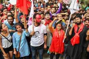 जेएनयू में फिर जीता वाम छात्र मोर्चा-कैम्पस में गूंजा लाल सलाम